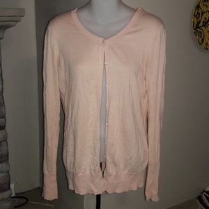 Womens sz M Old Navy peachy cardigan